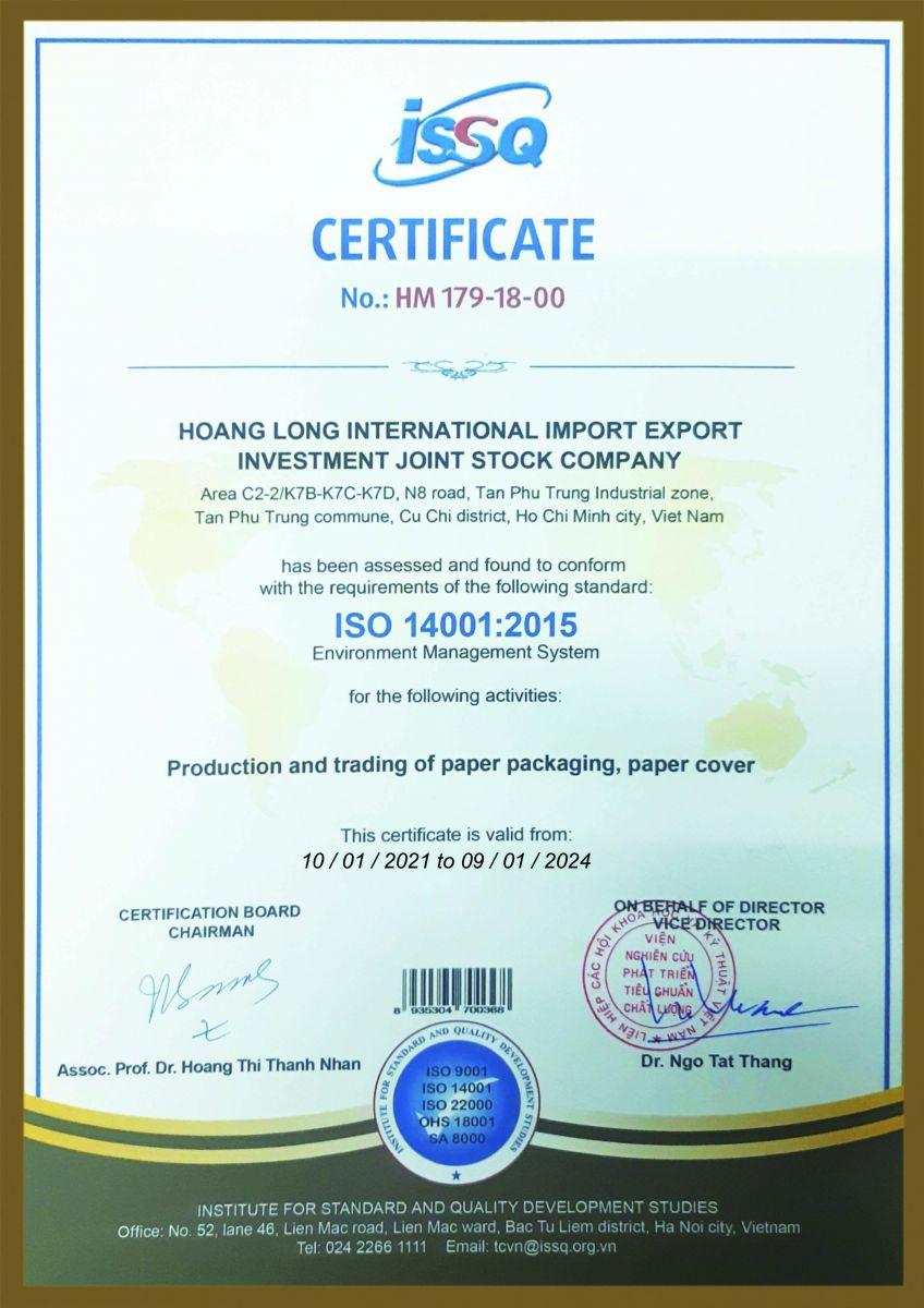 Các loại giấy chứng nhận của công ty